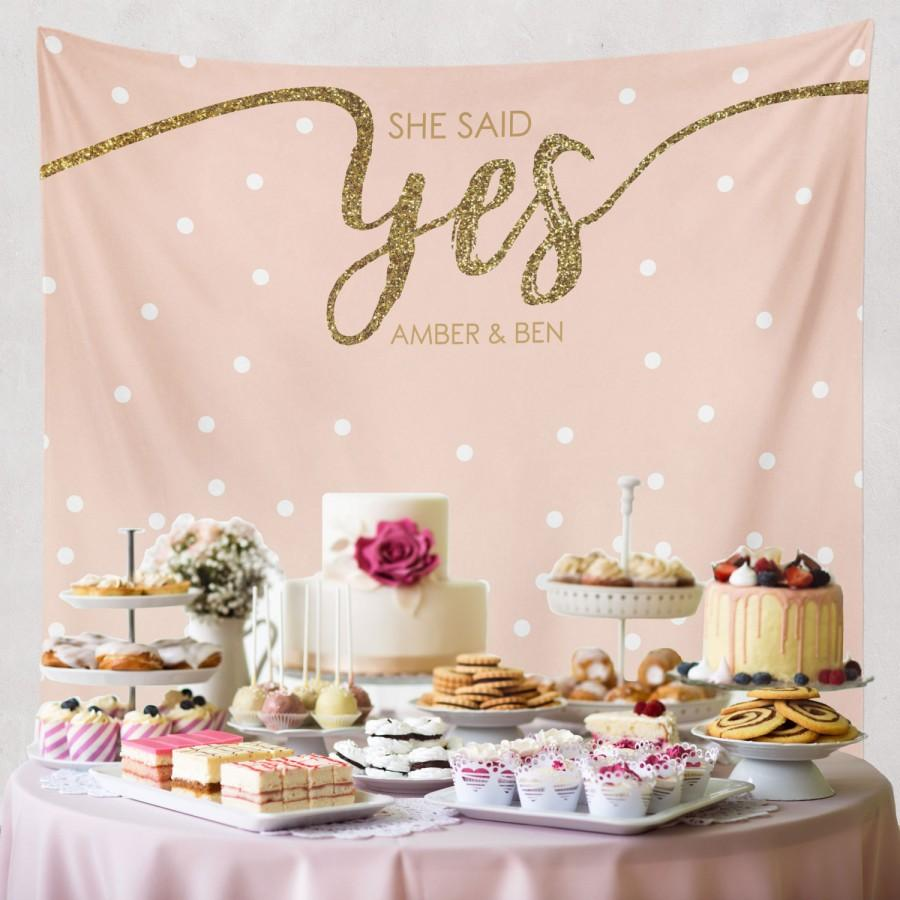 She Said Yes Bridal Shower Decorations Engagement Decor Party Banner W G23 Tp Mar1 Aa3