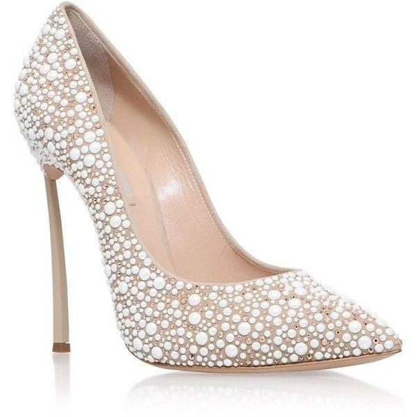 Casadei Blade Jewelled Court Shoes