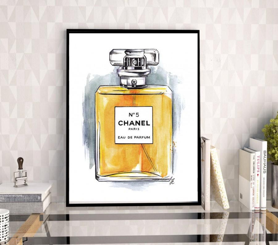 Chanel, Chanel Perfume Art, Chanel Perfume, Chanel Illustration, Chanel Poster, Chanel Drawing, Fashion Illustration, Watercolor Painting #2681375 - Weddbook