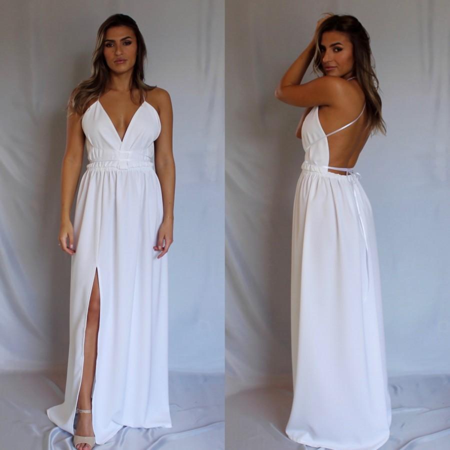 Beach Wedding Dress Boho Y Prom Homecoming White Simple