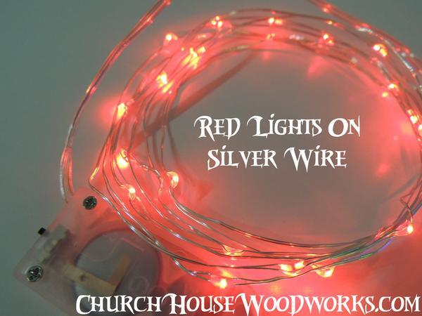 Red Battery Fairy Lights Led Operated Rustic Wedding Bedroom