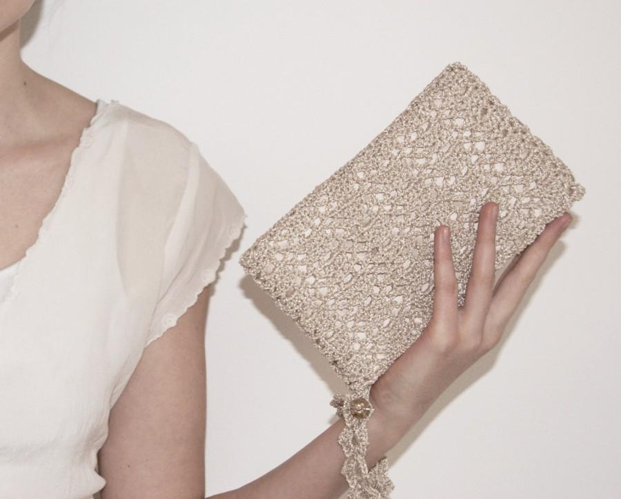 Champagne Clutch Bridal Purse Gift For Her Mom From Daughter Shower Woman Boss Gold Wristlet Bag
