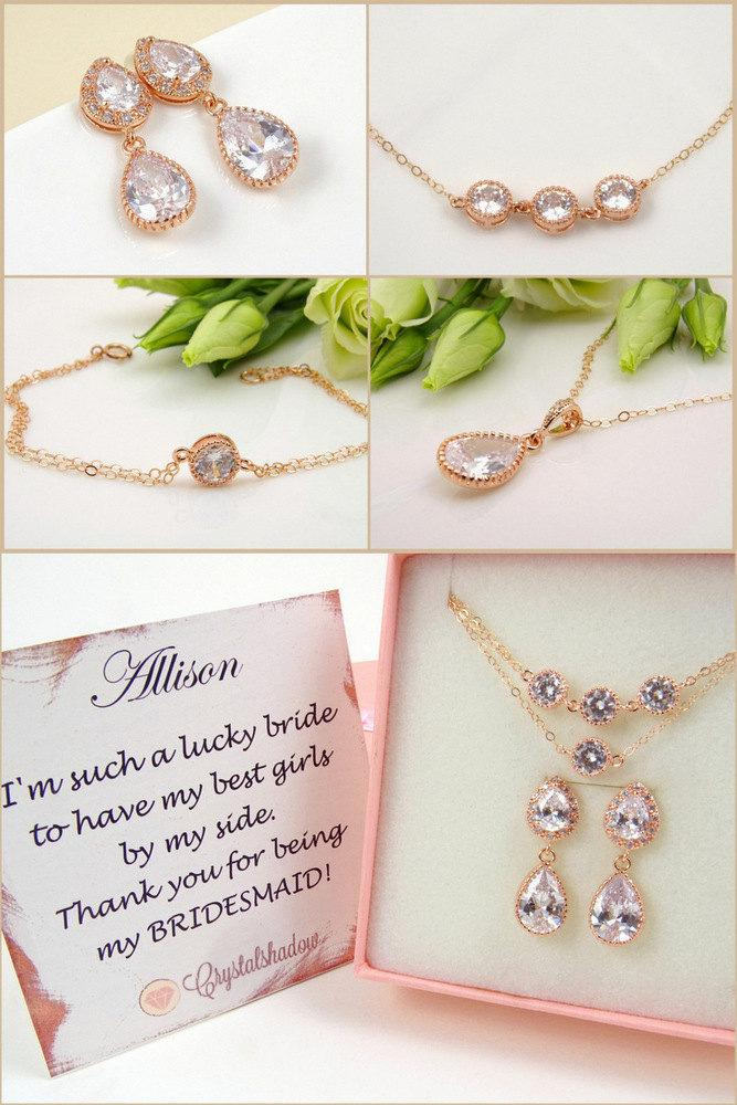 Wedding Jewelry For Bridesmaids Rose