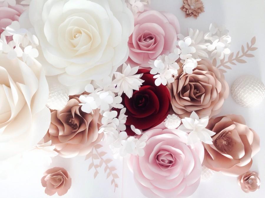Paper Flower Backdrop Wall Nursery Wedding Large Flowers Decor