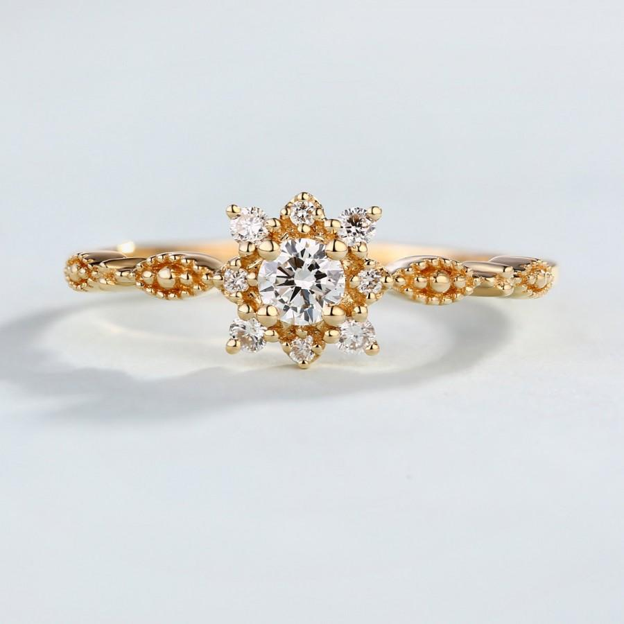 Anniversary Ring Birthday Snowflake Diamond Engagement Cer Flower Statement Rings Promise Bridal Sets