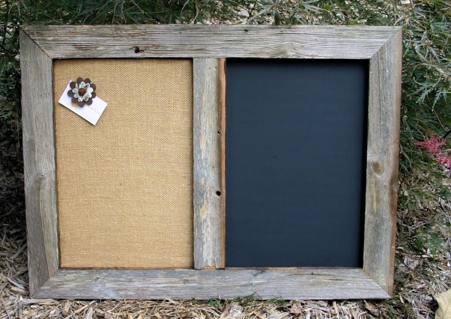 30x22 Barn Wood Framed Chalk Board Cork