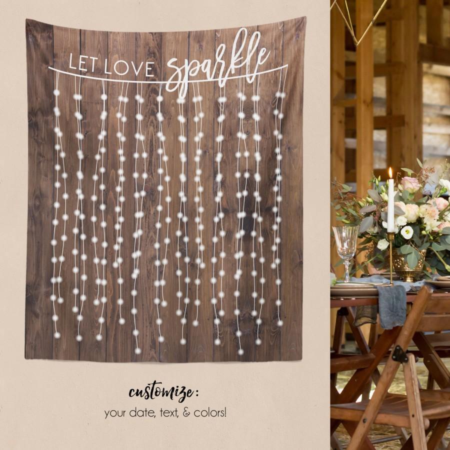 Well known DIY Wedding Wall, Rustic Wedding Backdrop, Custom Tapestry  AK82