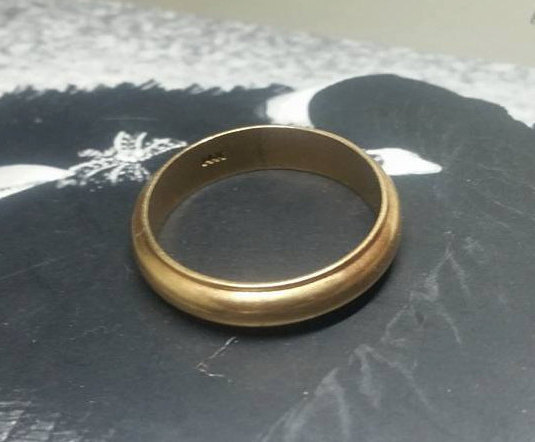 1970s 14k Gold Mens Vintage Wedding Band Groom Ring Rings Men