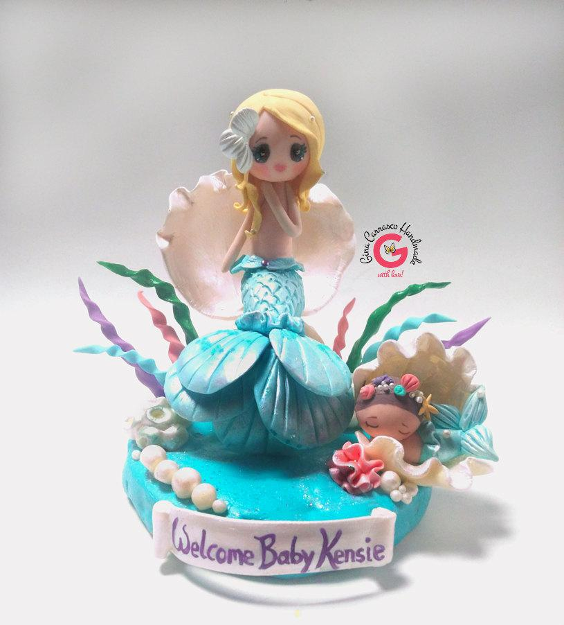 sea themed wedding cake topper mermaid baby shower cake topper mermaid baby shower 19720