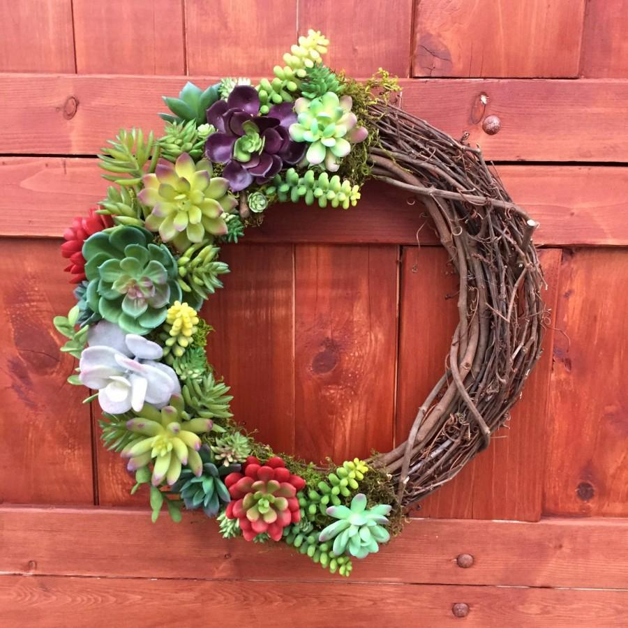 Succulent Wreath Artificial