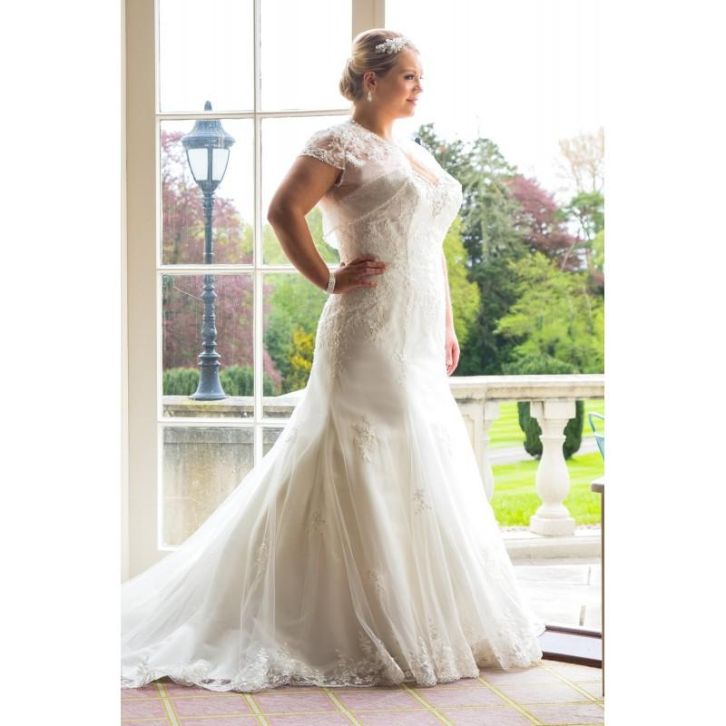 Plus Size Dresses Style Bb16314 By Bb Special Day Ivory White Lace Cover Up Floor Sweetheart Wedding Bridesmaid Dress Online