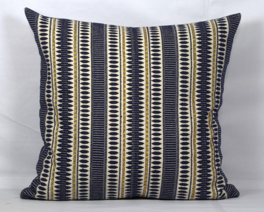 Dark Blue Throw Pillow Case 20x20 Covers 24 X 22x22 Gold Pillows Cover 18x18 Sofa Outdoor