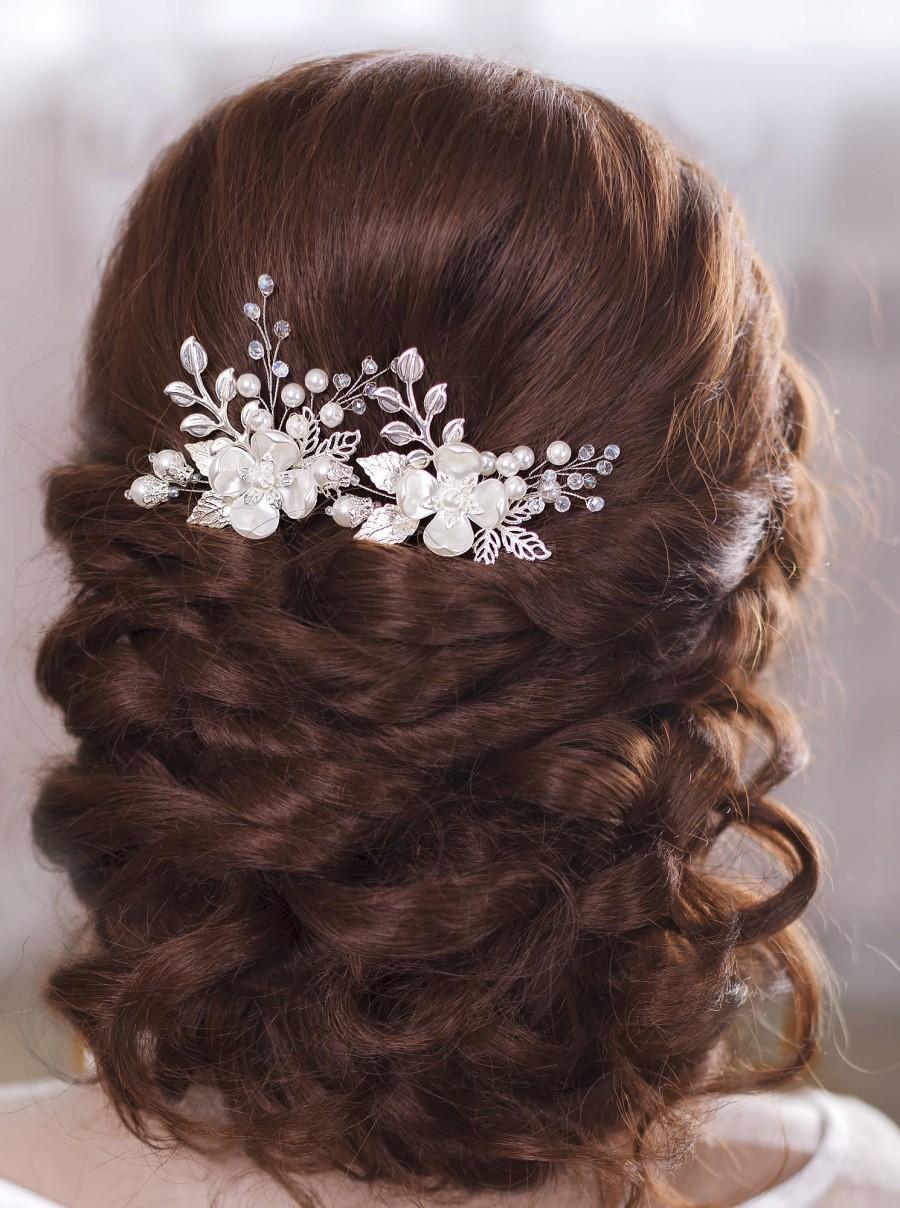 bridal hair pins wedding hair pins flower hair pins bridal hairpin