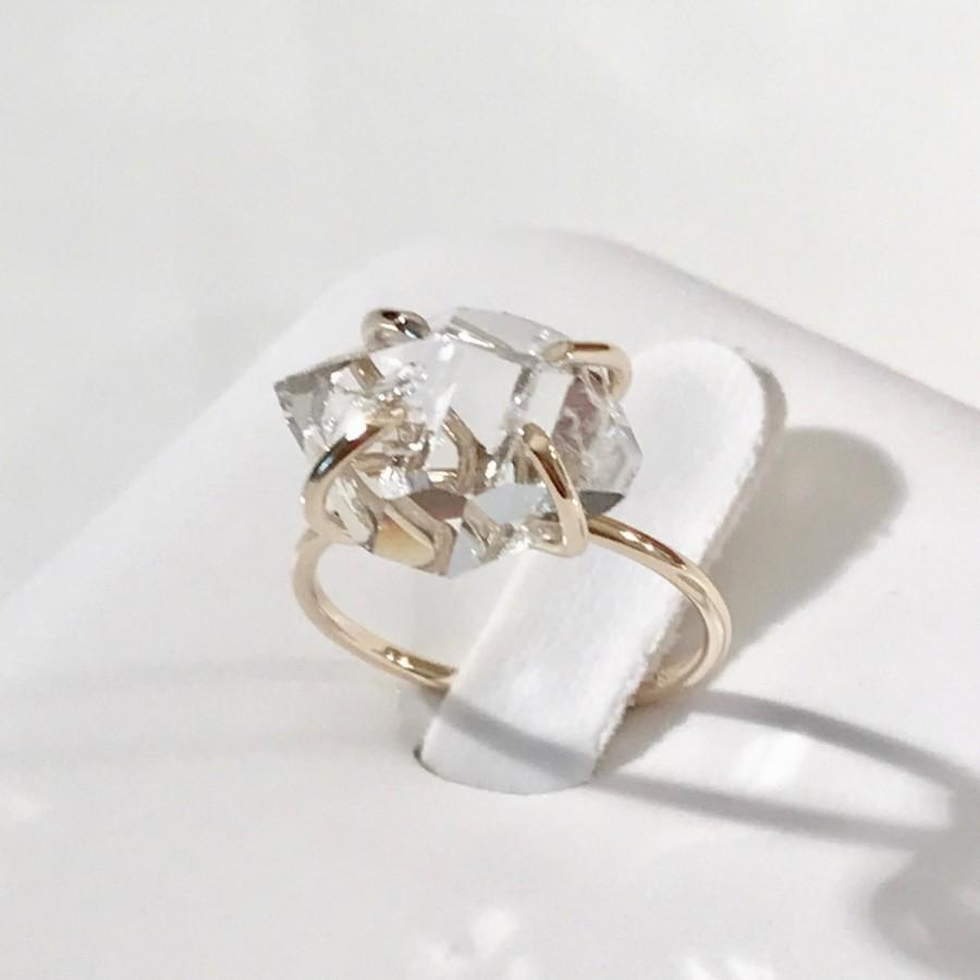14k Diamond Ring Herkimer Engagement Promise Gold 10k Wedding