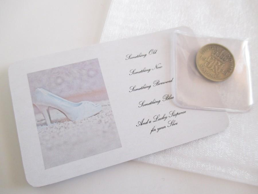 Wedding Sixpence Lucky Bridal Gift Silver For Her Shoe Bride To Be Day Keepsake