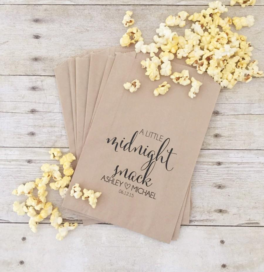 Treat Bags Wedding Midnight Snack Popcorn Bar Favor Candy Bars