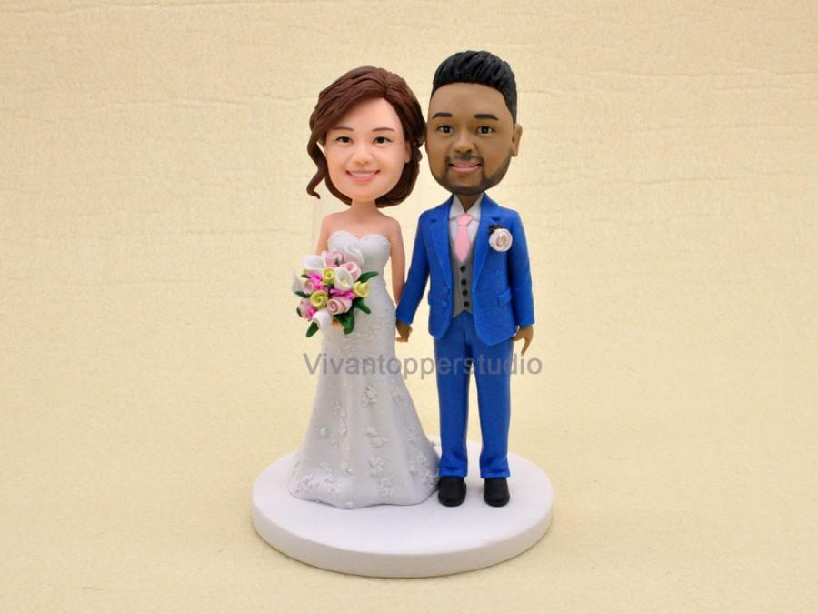 personalized cartoon wedding cake toppers wedding cake topper personalized custom toppers 18261