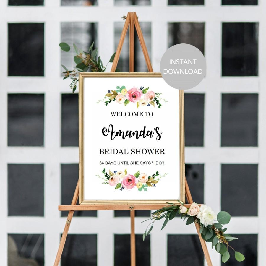 It is a photo of Printable Bridal Shower Signs with template