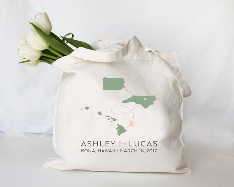 Custom Personalized Destination Wedding Tote Guest Welcome Bag Any City State Or Country