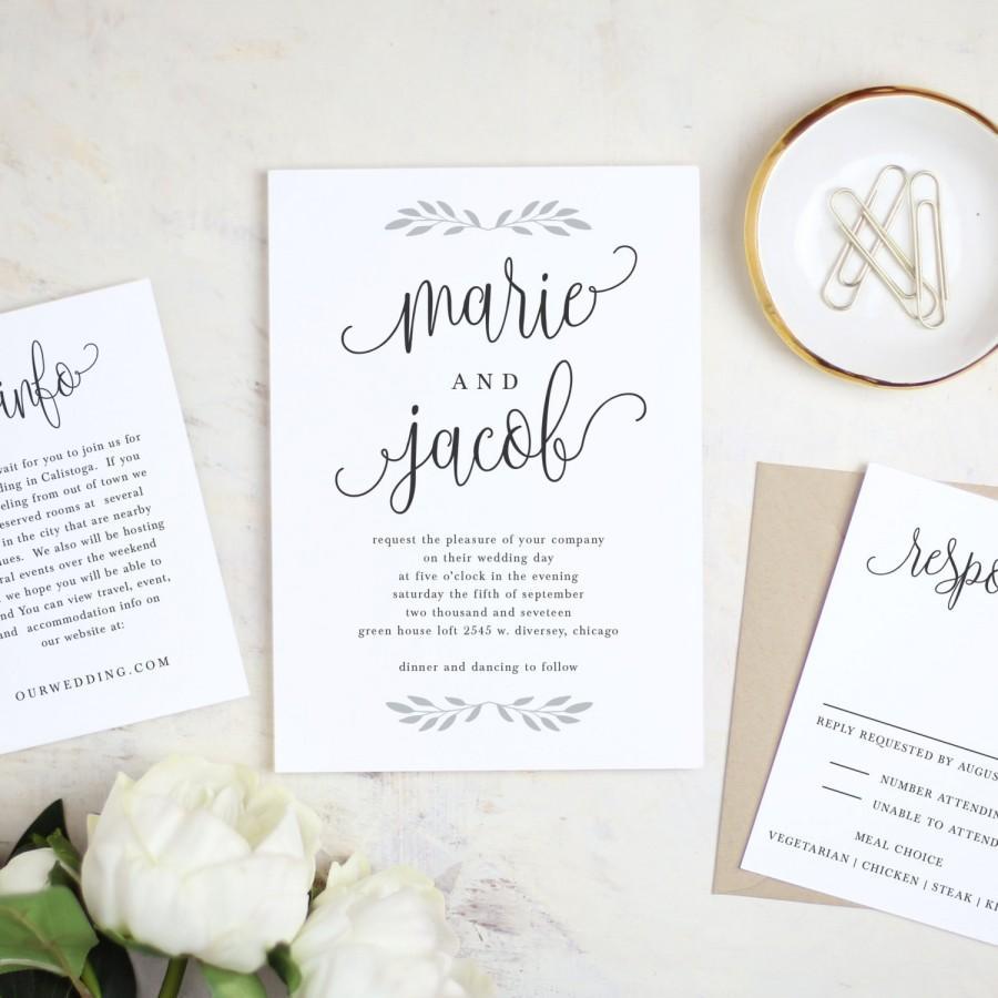 Invitation - Printable Wedding Invitation Template #3 - Weddbook