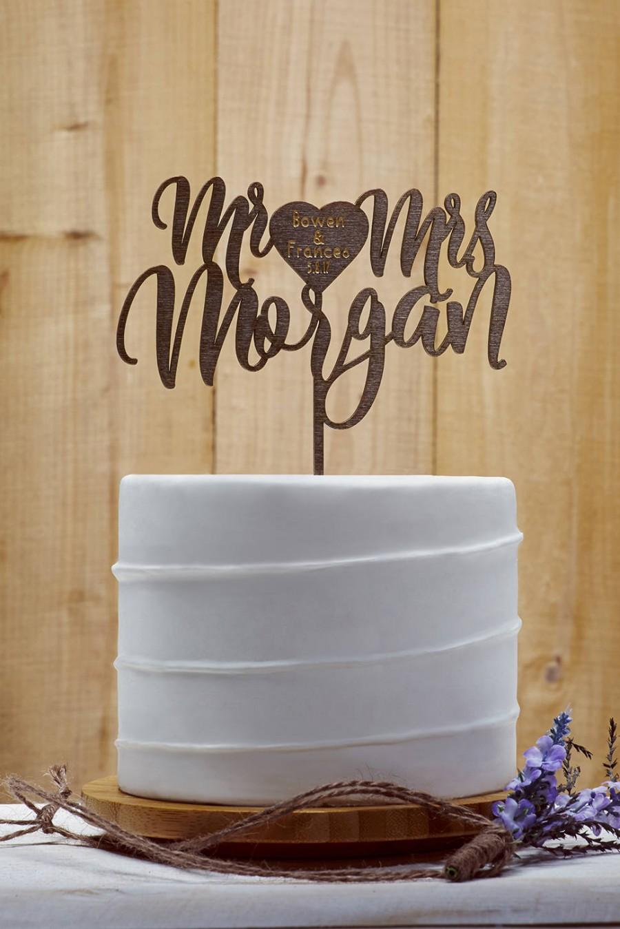 personalized last name wedding cake toppers last name cake topper customized wedding cake topper 18266