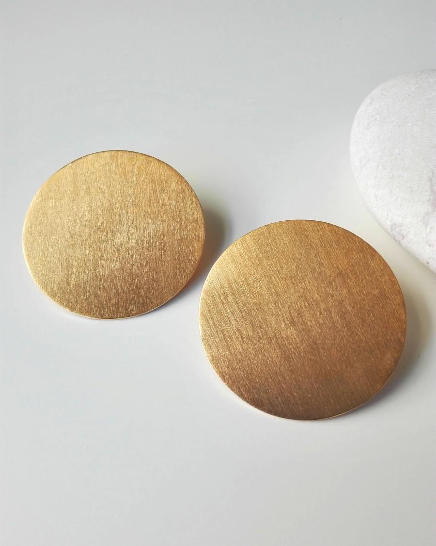8a16620ec4457 Well-liked Gold Disk Earrings #OM66 – Advancedmassagebysara