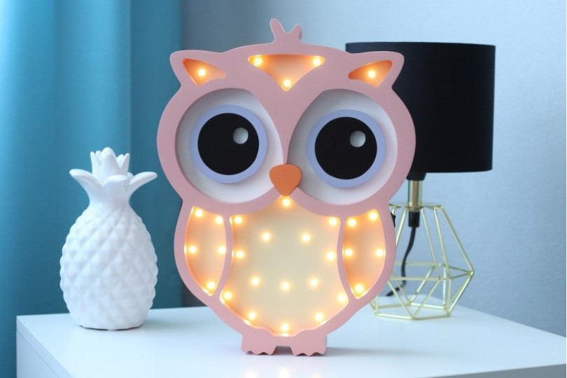 Night Light For Baby Nightlight Owl Gift Kids Lamp Marquee Personalized Gifts Babyshower