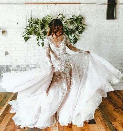 Y Bridal Dresses With Long Sleeve Lace Wedding Dress Custom Made Prom Jd 32 From June