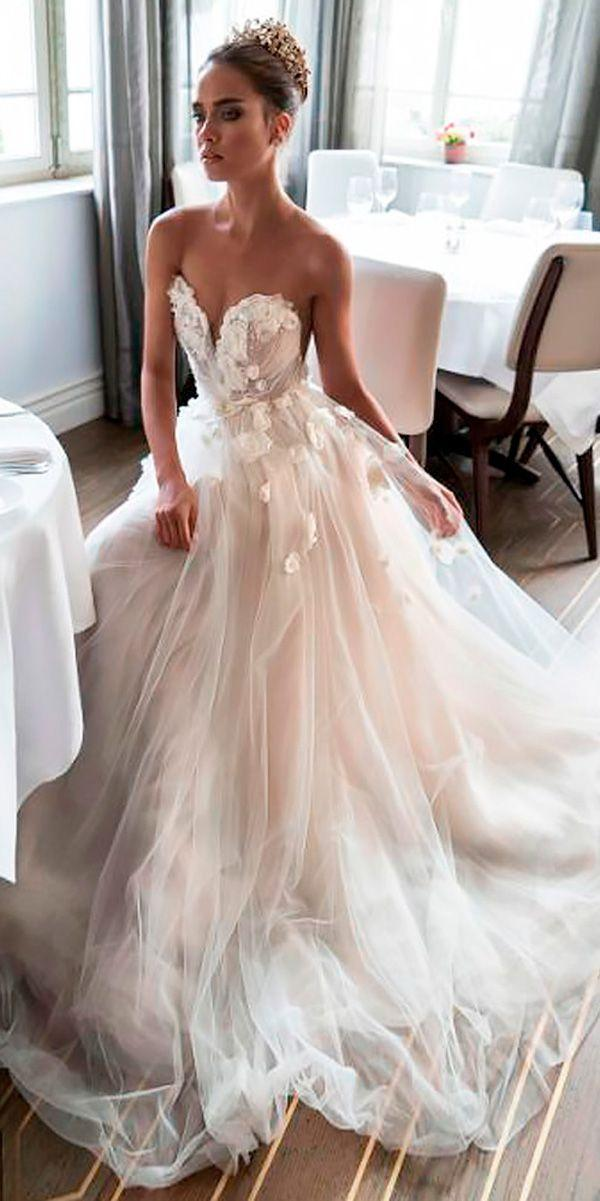 30 Peach Blush Wedding Dresses You Must See