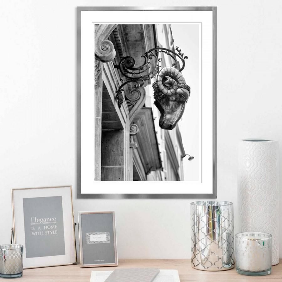 Ram Art Print Vertical Black And White Photography Paris Architecture Wall Large Photo 12x18 16x20 18x24