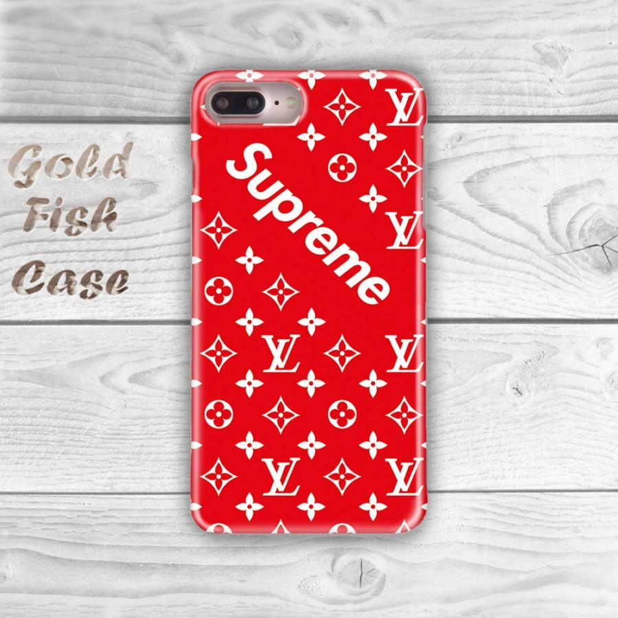 Supreme Iphone 7 Case Louis Vuitton 6s 5s Plus Red S067