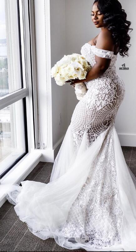 Lace Luxurious 2016 Arabic Plus Size Wedding Dresses Sweetheart Beaded Mermaid Illusion Bridal Y Vintage Gowns