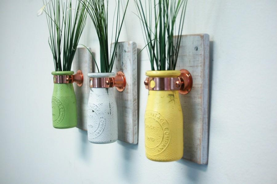 U Pick The Colors Painted Milk Bottle Wall Decor Shabby