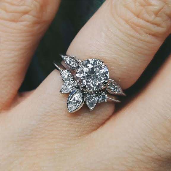My Custom Engagement Ring And Wedding Band Together