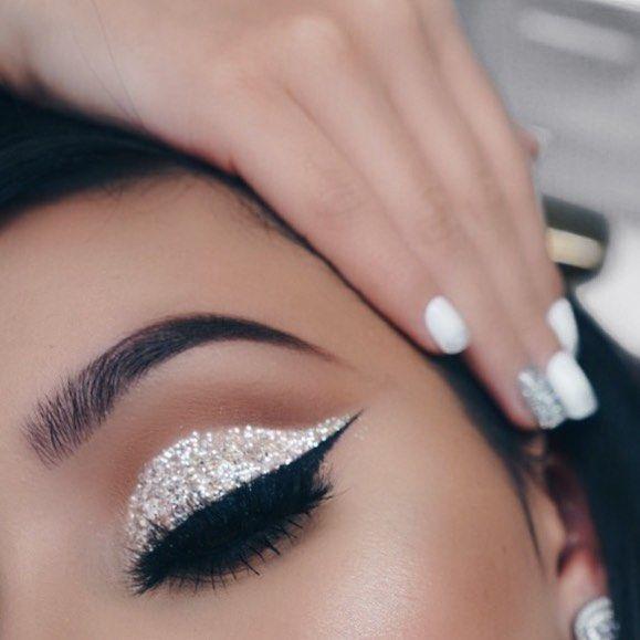 Black And Silver Glitter Makeup Saubhaya Makeup