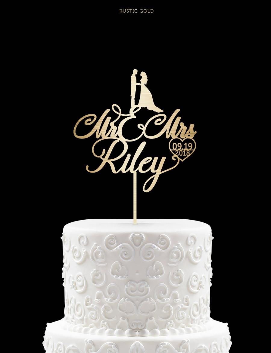 Customized Wedding Cake Topper Personalized For Custom Mr And Mrs 6