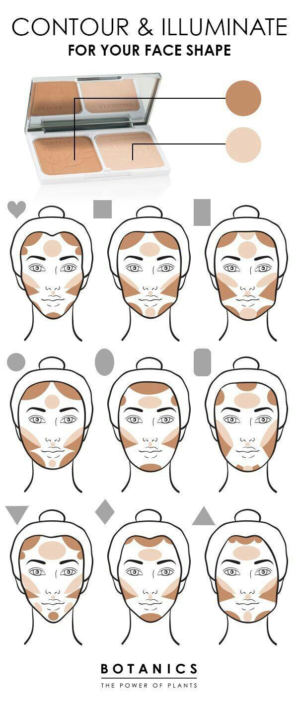 Makeup - Contour According To Face Shape #11 - Weddbook