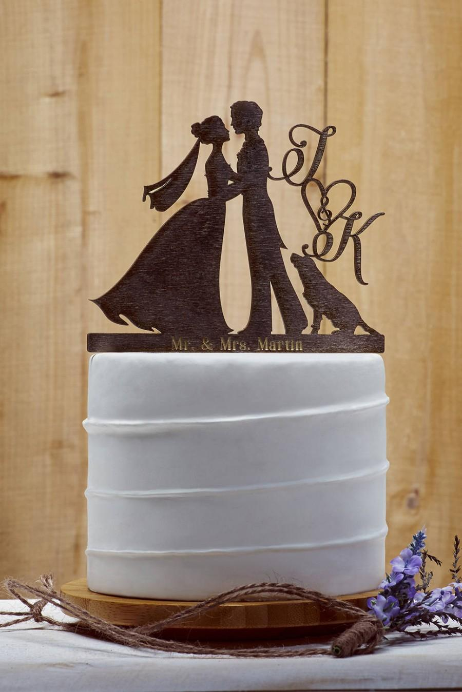 Customized Wedding Cake Topper With Dog Personalized For Custom Topper16