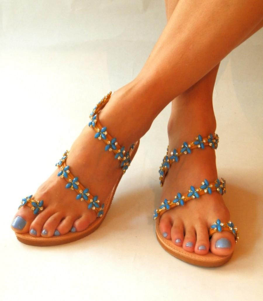 Wedding Sandals ''Ariadne'', Wedding Sandals, Flat Wedding Shoes ...