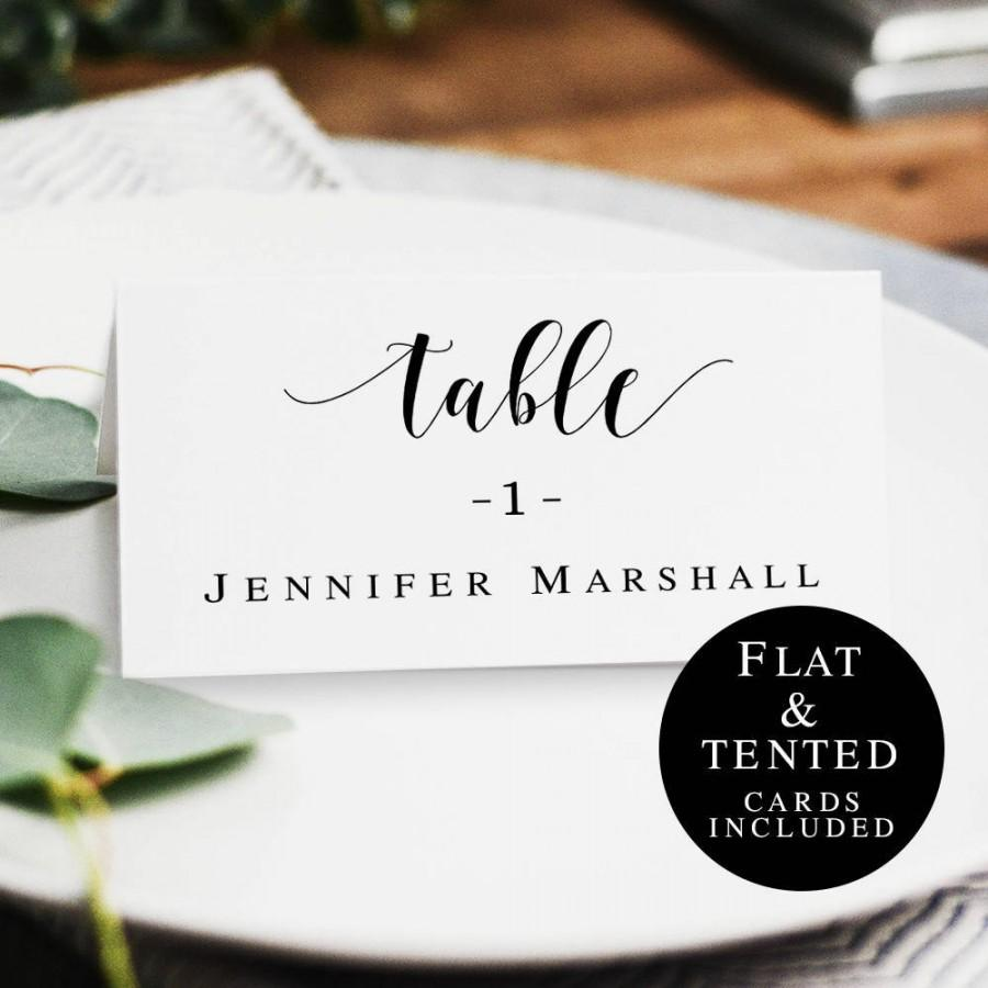 Wedding Name Cards Template Rustic Table Card Diy Place Printable Vm31