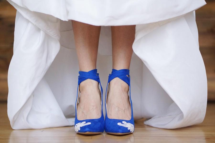 Blue Wedding Shoes Blue Heels Bridal Shoes Wedding Heel Blue Bridal Heel Gift Bride High Heels Something Blue Blue Pumps With Ivory Lace 2823558 Weddbook