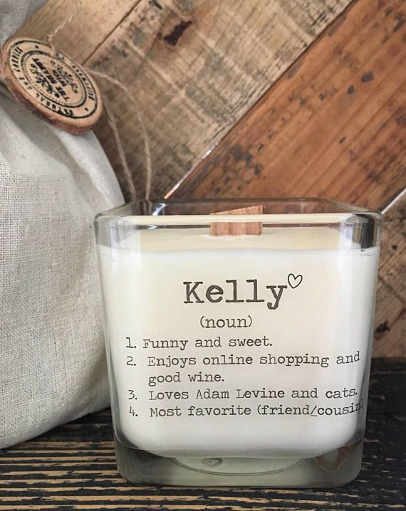 Personalized Friend Gift Valentines For Her Gifts Friends Birthday Soy Candle