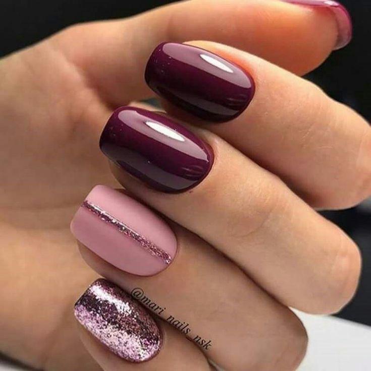 Pretty Winter Nails Art Design Inspirations 58 2866922 Weddbook