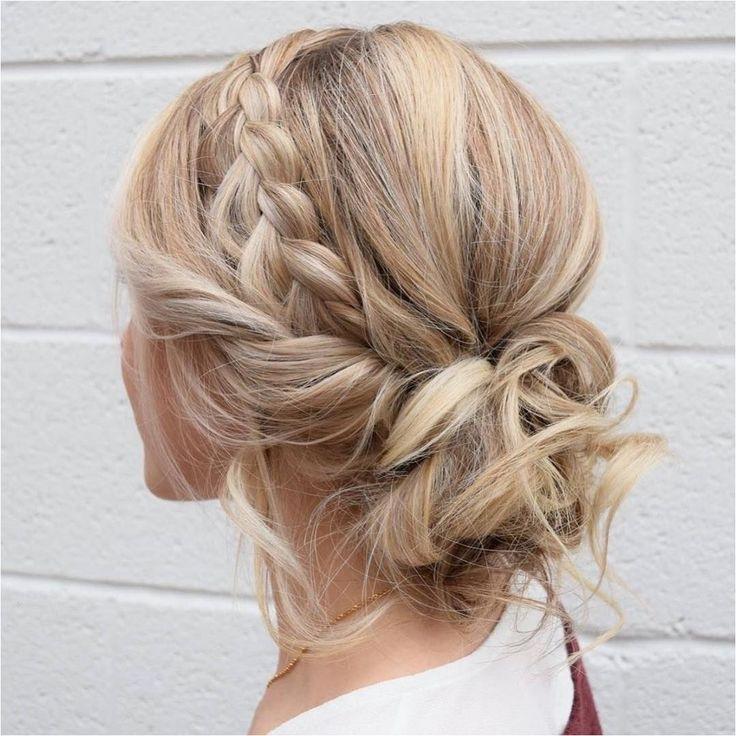 Braid Crown Updo Wedding Hairstyles Updo Hairstyles Messy Updos Braids Stylishbraids Click To See More 2912716 Weddbook