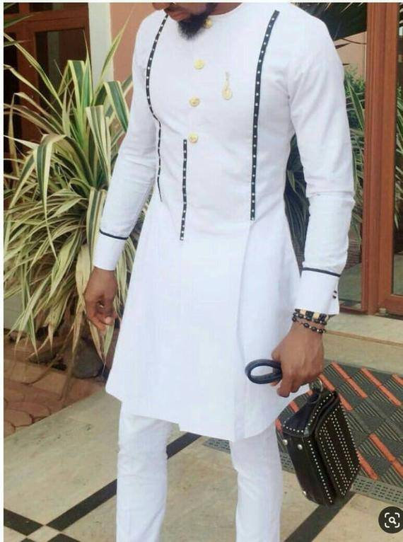 African Men's Clothing / African Fashion/ Wedding Suit/dashiki / African  Men's Shirt/ Vêtement Africain/ Chemise Et Pantalon/ Ankara Styles #2952285  - Weddbook