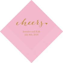 Set Of 100 Cheers Wedding Napkins Paper Personalized Napkin Tail Luncheon